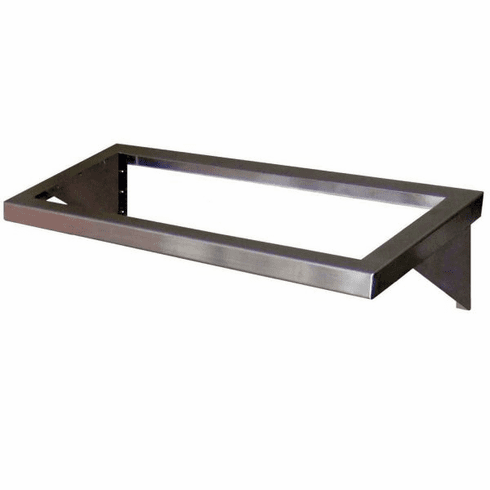 """Steril-Sil E1 System 2-insert angled wall shelf. Open frame design. Holds (2) E1 inserts in horizontal position. 35.00"""" x 12.50"""". Made in the U.S.A. Model E1-WDB-2H"""