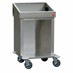 "Steril-Sil E1 System 24� cart. Holds (2) E1 inserts at angle in vertical position. Open base for trays or glass racks.25.25"" X 25.25"" X 39"" H. Made in the U.S.A. Model E1-CRT24-2V"