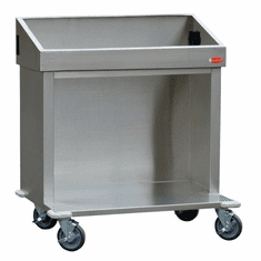"Steril-Sil E1 System 36� cart. Holds (3) E1 inserts at angle in vertical position. Open base for trays or glass racks. 35.25"" X 25.25"" X 39.00"" H . Made in the U.S.A. Model E1-CRT36-3V"