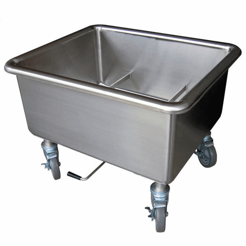 """Steril-Sil E1 System soak sink. Holds (2) E1 baskets with basket handle lift. 14 gauge with twist lever drain. Overall: 28.25"""" x 24.00"""" x 21.00"""" H, Made in the U.S.A. Model E1-SK-2"""