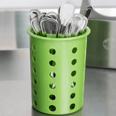 Steril-Sil Lime silverware cylinder. Straight-walled design for highest industry capacity, less silverware jamming and a stable base. Made in the U.S.A. Model RP-25-LIME