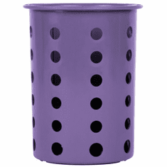Steril-Sil Violet silverware cylinder. Straight-walled design for highest industry capacity, less silverware jamming and a stable base. Made in the U.S.A. Model RP-25-VIOLET