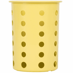 Steril-Sil Yellow silverware cylinder. Straight-walled design for highest industry capacity, less silverware jamming and a stable base. Made in the U.S.A. Model RP-25-YELLOW
