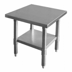 """Thunder Group 24"""" X 24"""" X 34""""430 Stainless Steel WorktableFlat Top, Model# SLWT42424F"""