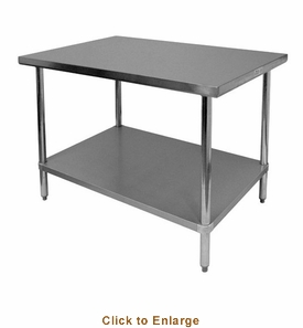 """Thunder Group 24"""" X 36"""" X 34 430 Stainless Steel WorktableFlat Top, Model# SLWT42436F"""