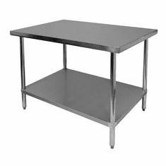 """Thunder Group 24"""" X 48"""" X 34 430 Stainless Steel WorktableFlat Top, Model# SLWT42448F"""