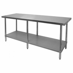 """Thunder Group 30"""" X 96"""" X 34 430 Stainless Steel WorktableFlat Top, Model# SLWT43096F"""
