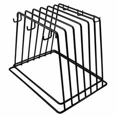 Thunder Group Cutting Board Rack Fit 6 Board Powder Coated, Model# PLCBR006