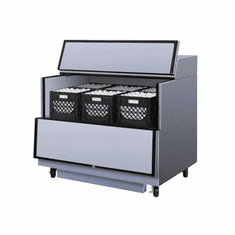 """Turbo Air 49""""L Single Access Milk Cooler-Stainless Steel ExtSs Int. (Made In The USA), Model# TMKC-49S-N-SS"""