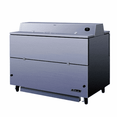 """Turbo Air 58""""L Dual Access Milk Cooler-Stainless Steel ExtSs Int. (Made In The USA), Model# TMKC-58D-N-SS"""