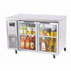 Turboair J Glass Door Undercounter Side Mnt Fridge, Model# JUR-48-G-N