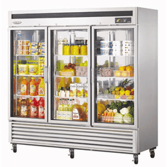 Turboair Maximum Glass Door Refrigerator 23 Hp, Model# TSR-72GSD-N