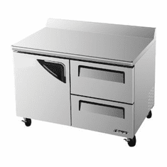 Turboair Super Deluxe Worktop Freezer 12 Cu Ft, Model# TWF-48SD-D2-N