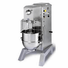 Univex 60 qt. Pizza Mixer, Floor Model, 2 speed, 3 HP, 72 qt. SS Bowl (Dough Hook only) - 280 - 240/60/1 Model SRM60+PM