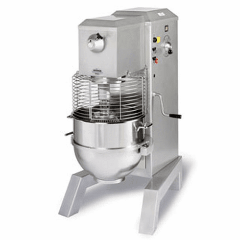 Univex 80 qt. Mixer Floor Model, 3 HP, 90 qt. SS Bowl - 280 - 240/60/1 Model SRM80+
