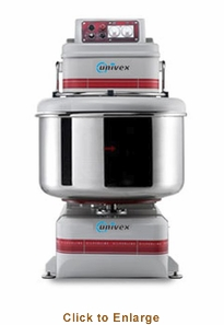 Univex Silverline Spiral Mixer w/ removable bowl (350 lbs. max capacity) 208-240/60/3 Model SL160RB