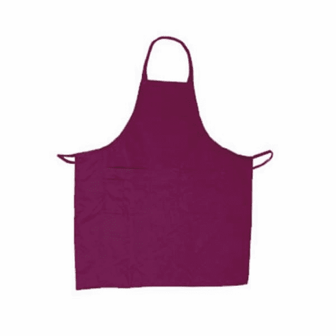 Update International Bib Apron Cotton Twill Burgundy, Model# BAP-BU
