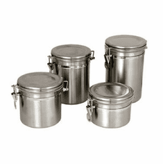 Update International Canister 35OzPlastic Lid S/S, Model# CAN-5AC