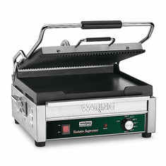 Waring Commercial 14.5 x 11 Dual Plate Panini Grill 120V Model WDG250