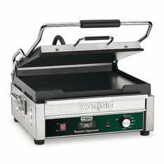 Waring Commercial 14 x 14 Flat Panini Grill with Timer 120V|WFG275T