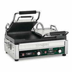 Waring Commercial 17 x 9.25 Double Flat Panini Grill 240V Model WFG300T