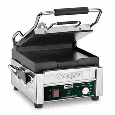 Waring Commercial 9.75 x 9.25 Smooth Flat Panini Grill 120V|WFG150