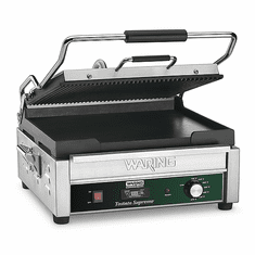 Waring Commercial Dual Panini Press with Timer 120V Model WDG250T