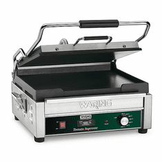 Waring Commercial Large Flat Panini Grill w/Timer 120V Model WFG250T