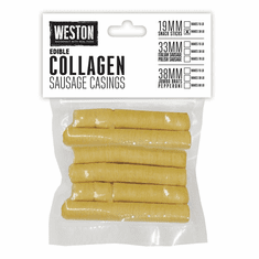 Weston Edible Collagen Casings � 19MM, Makes 30 Lbs. of Sausage, Model# 19-0101-W