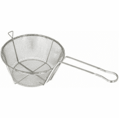"""Winco 9 1/2"""" Round Wire Fry Basket6 Mesh, Model# FBRS-9"""