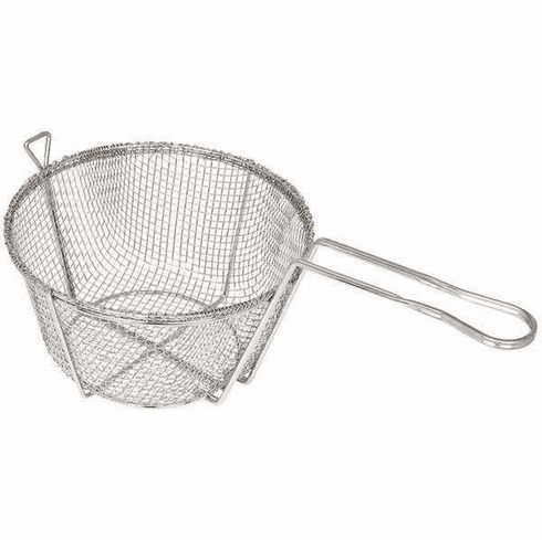 "Winco 9"" Steel Round Wire Fry Basket, Model# FBR-9"