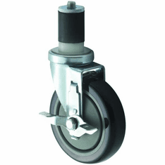 Winco Casters Wbrake Fits Standard 5 Wheel 2Pc Set, Model# CT-1B
