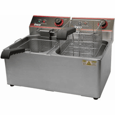 Winco Electric Deep Fryer Twin Well 32 Lb. Oil Capacity, Model# EFT-32