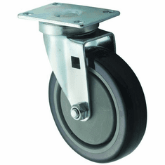 "Winco Universal 2 3/8"" X 3 5/8"" Plate Casters5"" Wheel2Pc Set, Model# CT-23"