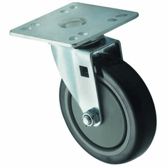 "Winco Universal 4"" X 4"" Plate Casters 5"" Wheel 2Pc Set, Model# CT-44"