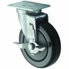Winco Universal Plate Casters Wbrake 5 Wheel 2Pc Set, Model# CT-23B