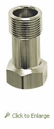 Inline Faucet Supply Line Adapter Restrictor, 3/8