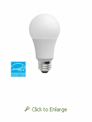 LED 6W / 40W Replacement A19 Warm White (2700K) Dimmable Light Bulb, Energy Star Certified
