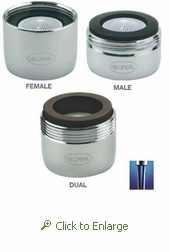 NEOPERL PCA Careguard 1 GPM Faucet Aerator w/Agion Antimicrobial, Male 15/16 - 27 or Female 55/64 or Dual Thread, Laminar Flow