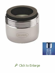 PCA Spray 0.5 gpm Faucet Aerator, Reg Size, Male 15/16 and Female 55/64 - 50 Pack