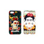 Ish Original Official Frida Kahlo Skull & Face 2pcs Set Phone Case / Cover Slim Soft TPU