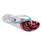 Ish Original Official Frida Kahlo White Rose Women Flip-Flop Sandal