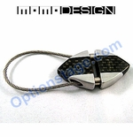 MOMO Design Official Triangular Real Carbon Fiber Keychain (Back Order)