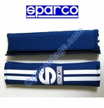 Sparco (2 inch, 77 Line Blue Color) Seat Belt Harness Pad