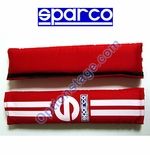 Sparco (2 inch, 77 Line Red Color) Seat Belt Harness Pad