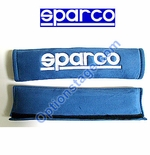 Sparco (2 inch, Alcantara Memory Foam Blue Color) Seat Belt Harness Pad