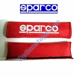 Sparco (2 inch, Alcantara Memory Foam Red Color) Seat Belt Harness Pad