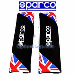 Sparco UK Flag Seat Belt Shoulder Harness Pad