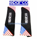 Sparco USA Flag Seat Belt Shoulder Harness Pad