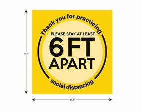 14.5 x 14.5 Social Distancing Floor Decal